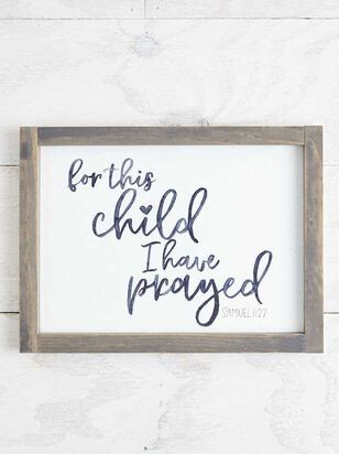 For This Child I Have Prayed Wall Art - A'Beautiful Soul