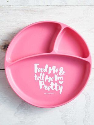 Tullabee Tell Me I'm Pretty Suction Plate - A'Beautiful Soul