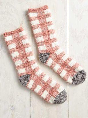 Rose Antique Plaid Socks - A'Beautiful Soul