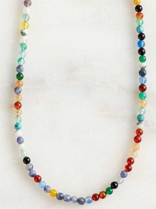 Natural Stone Beaded Choker Necklace - A'Beautiful Soul