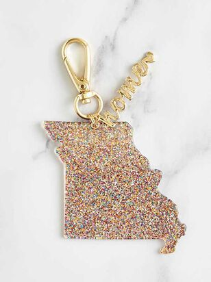 Home Glitter Keychain - Missouri - A'Beautiful Soul