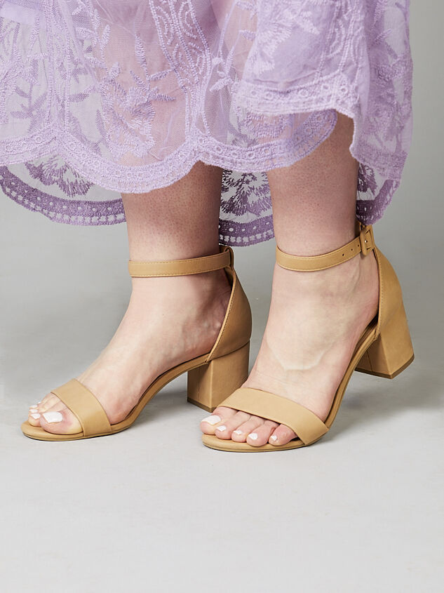 Hallie Wide Width Heels - Natural - A'Beautiful Soul