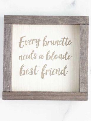 Brunette Blonde Best Friend Wall Art - A'Beautiful Soul