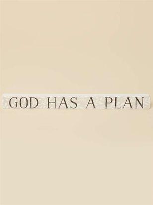 God Has a Plan Block Sign - A'Beautiful Soul
