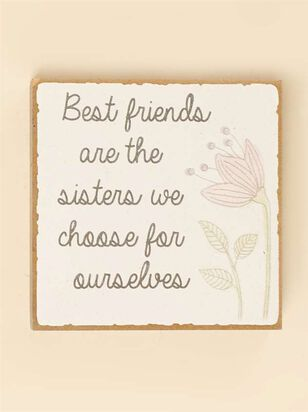 Best Friends are Sisters Block Sign - A'Beautiful Soul