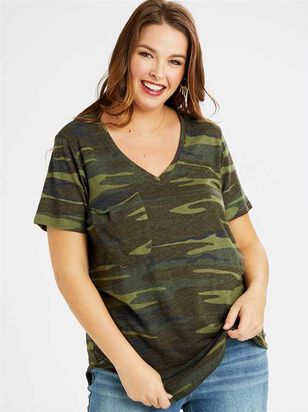 Camo Pocket Top - A'Beautiful Soul