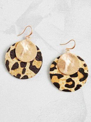 Metallic Leopard Earrings - A'Beautiful Soul