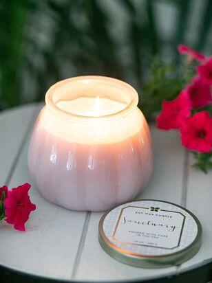 Blush Milk Glass Sanctuary Candle - A'Beautiful Soul