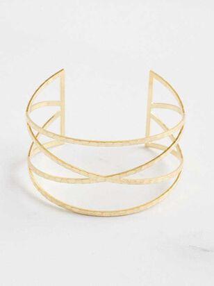Crossed Cuff Bracelet - A'Beautiful Soul