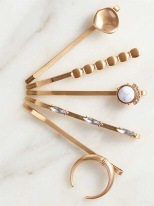 Squash Blossom Bobby Pin Set - Gold - A'Beautiful Soul