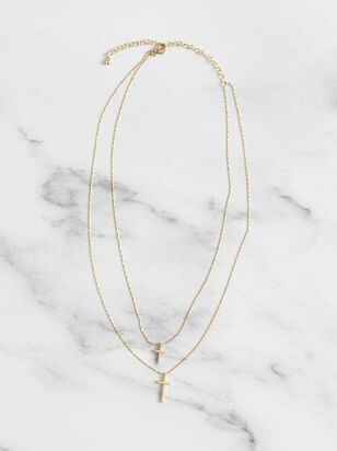 Double Cross Necklace - A'Beautiful Soul