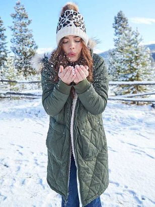 Alpine Reversible Wubby Puffer Coat - A'Beautiful Soul