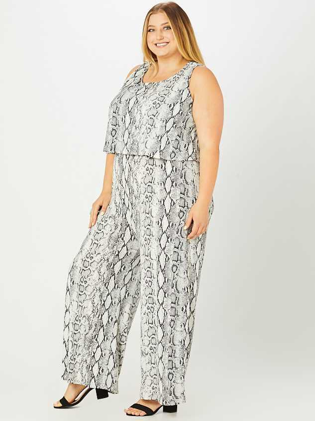 Pria Snakeskin Jumpsuit Detail 3 - A'Beautiful Soul
