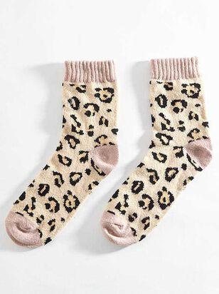 Blush Leopard Crew Socks - A'Beautiful Soul