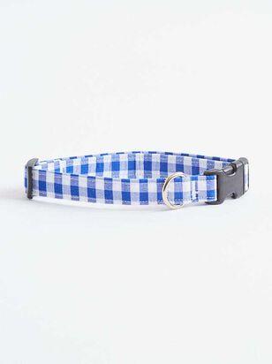 Bear & Ollie's Blue Gingham Dog Collar - A'Beautiful Soul