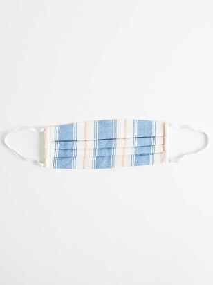 Striped Cotton Linen Face Mask - A'Beautiful Soul