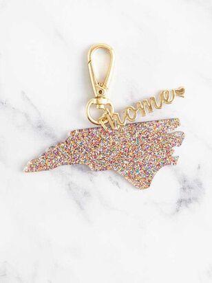 Home Glitter Keychain - North Carolina - A'Beautiful Soul