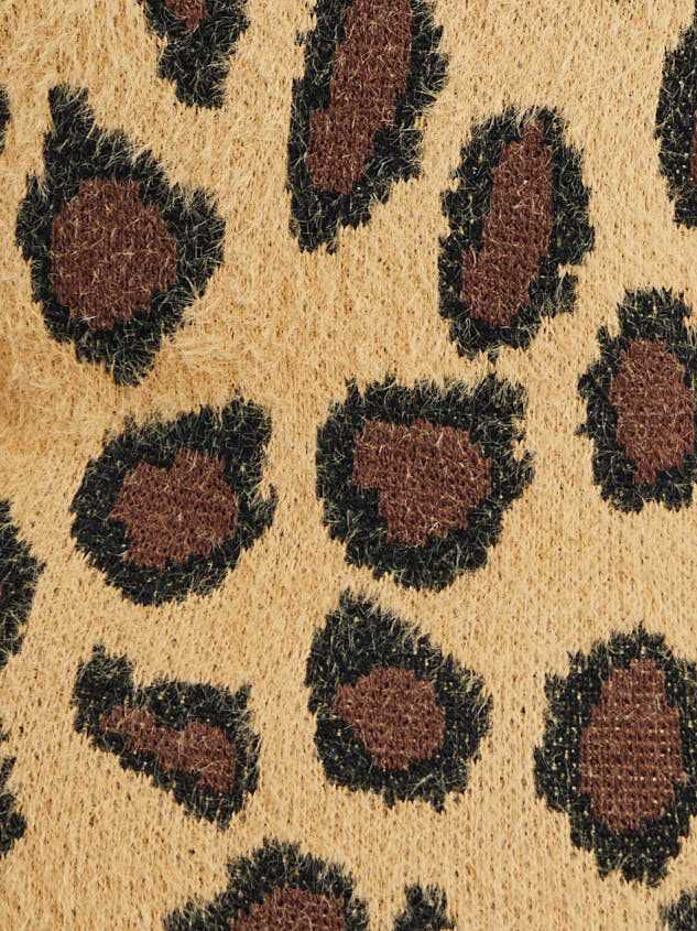 Leopard Pullover Sweater Detail 5 - A'Beautiful Soul