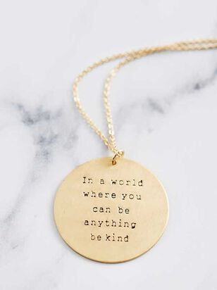 Be Kind Necklace - A'Beautiful Soul