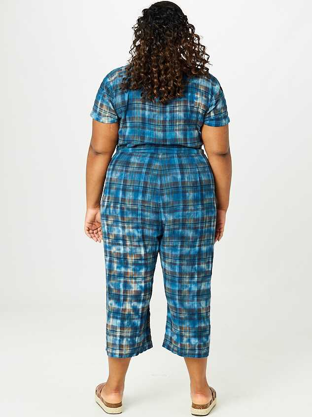 Collins Plaid Jumpsuit Detail 3 - A'Beautiful Soul