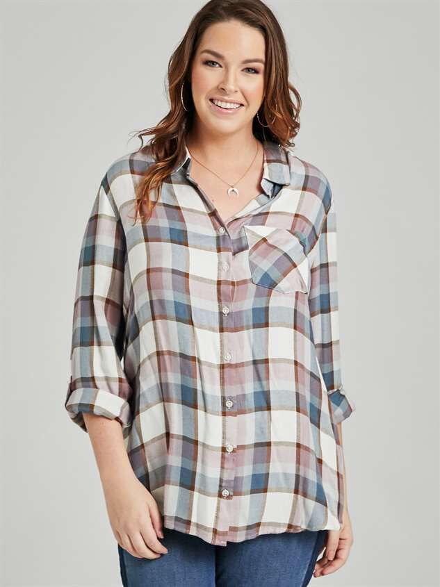 Roselle Plaid Top