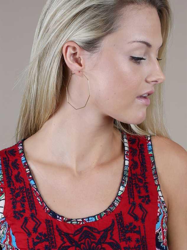 Eighth Wonder Hoop Earrings Detail 2 - A'Beautiful Soul