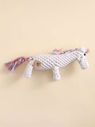 Unicorn Rope Dog Toy - A'Beautiful Soul
