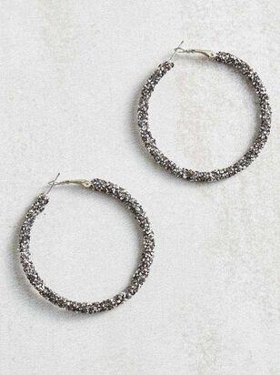 Rock Paper Wrapped Hoop Earrings - A'Beautiful Soul