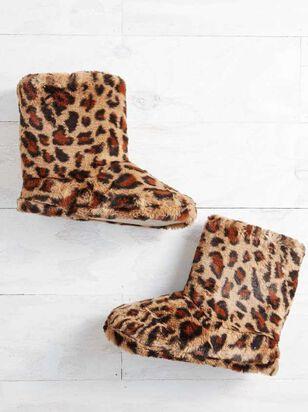 Leopard Bootie Slippers - A'Beautiful Soul