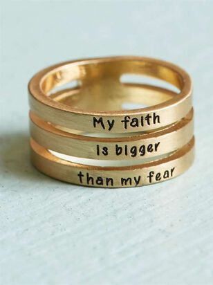 Faith Bigger than Fear Ring - A'Beautiful Soul