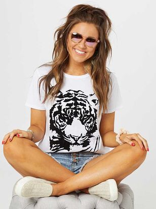 Flocked Tiger Top - A'Beautiful Soul