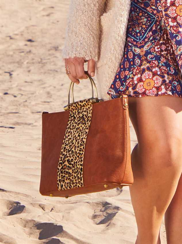 Lula Leopard Handbag Detail 4 - A'Beautiful Soul