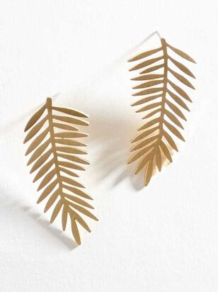 Brushed Palm Earrings - A'Beautiful Soul