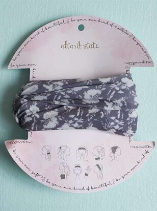 Black Floral Hair Bandeau - A'Beautiful Soul