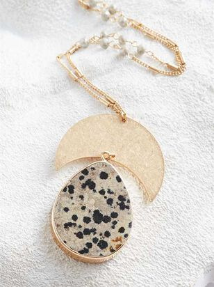 Dalmation Crescent Necklace - A'Beautiful Soul