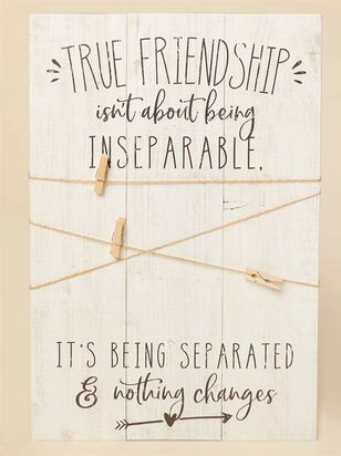 True Friendship Twine and Clip Frame - A'Beautiful Soul