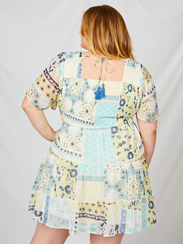 Tabitha Patchwork Dress Detail 3 - A'Beautiful Soul