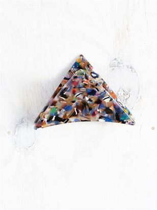 Acetate Triangular Claw Clip - Multi - A'Beautiful Soul