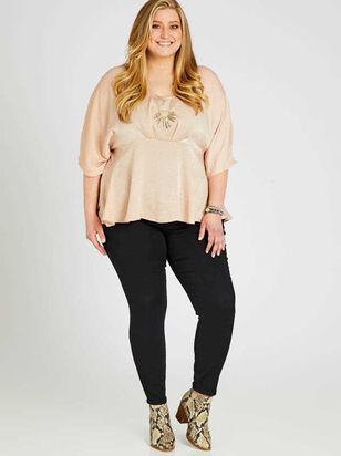 Waist Smoothing Skinny Jeans - Black - A'Beautiful Soul