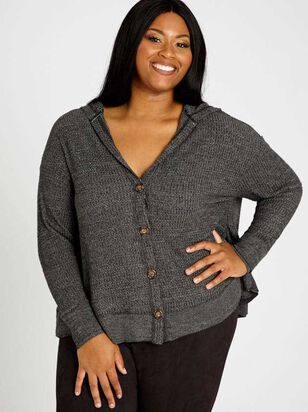 Dreamin' In Thermal Cardigan Top - A'Beautiful Soul