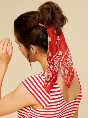 Versatile Scrunchy - Brick Red - A'Beautiful Soul
