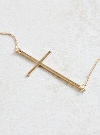 Dainty Cross Necklace Detail 2 - A'Beautiful Soul