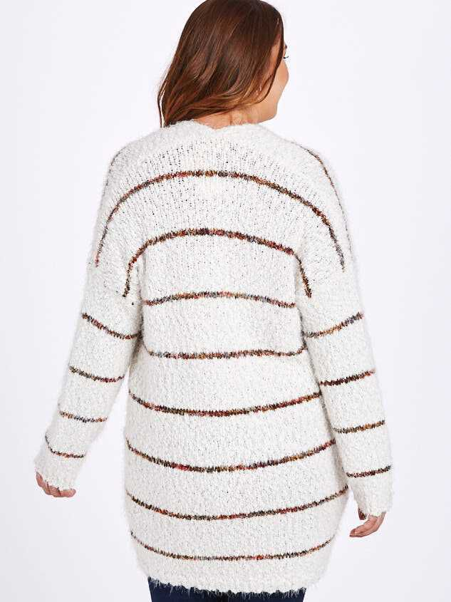 Lovely Lash Spice Striped Cardigan Sweater Detail 3 - A'Beautiful Soul
