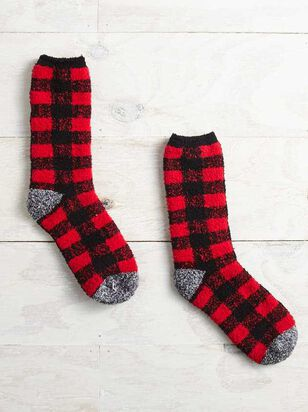 Buffalo Plaid Cozy Socks - A'Beautiful Soul
