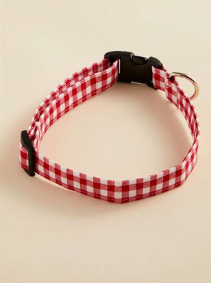 Bear & Ollie's Red Gingham Dog Collar - Large - A'Beautiful Soul