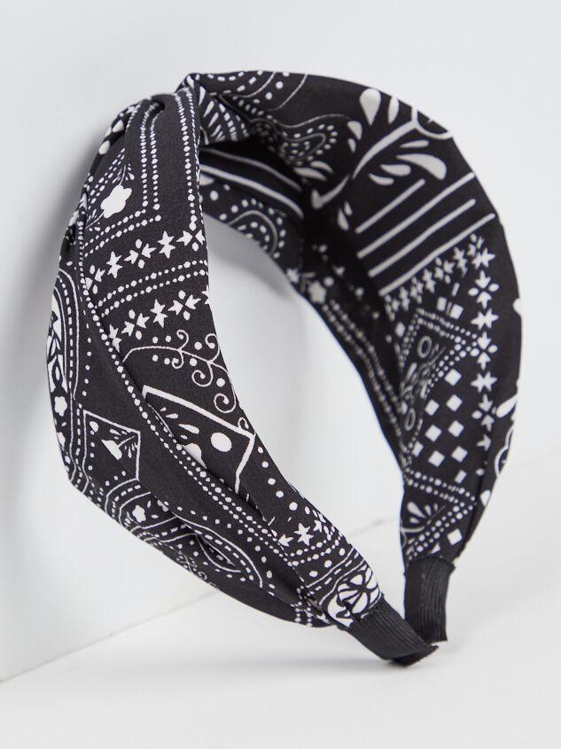 Bandana Headband - Black - A'Beautiful Soul