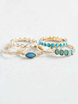 Aquamarine Ring Set - A'Beautiful Soul