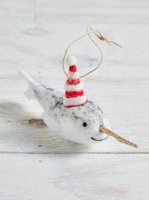 Felt Narwhal Ornament - A'Beautiful Soul