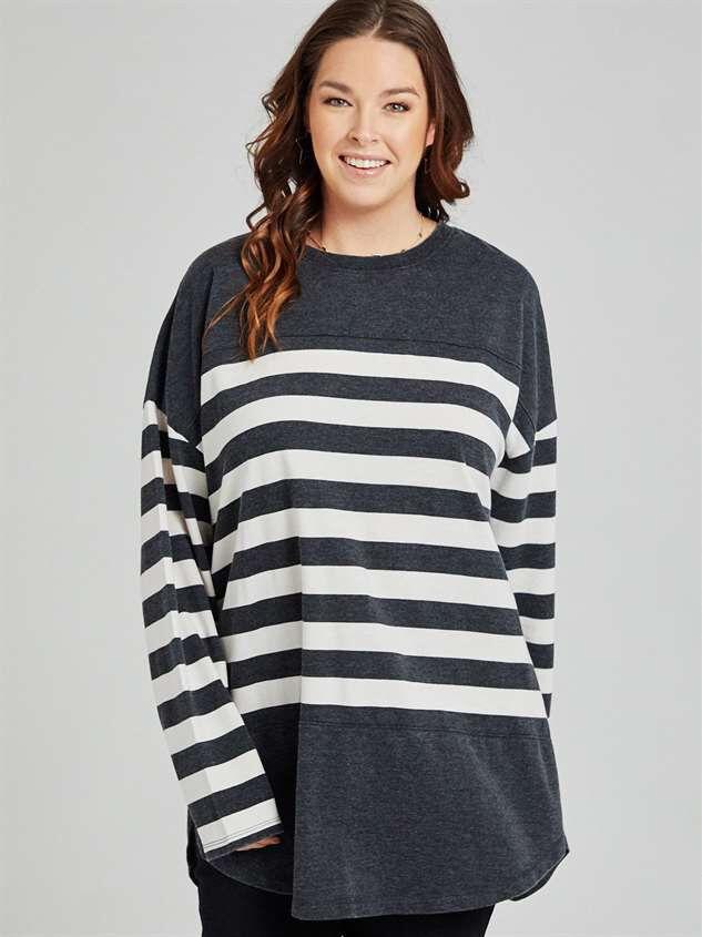 Modern Stripe Top - A'Beautiful Soul