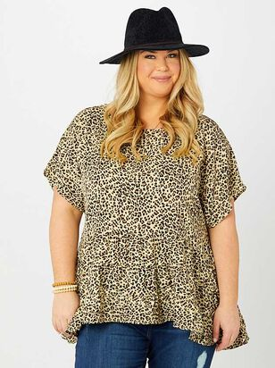 Leopard Peplum Top - A'Beautiful Soul